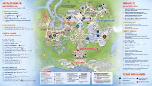 Disney Epcot Map Wdwthemeparks Com