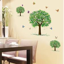 popular big wall stickers tree buy cheap big wall stickers tree big size three tree with butterfly art pvc wall stickers for living room home decor mural