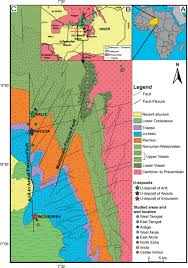 Niger Africa Map by Fluid Flows Around A Major Fault Identified By
