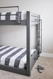 Bed Rail For Bunk Bed Diy Industrial Bunk Bed Free Plans Cherished Bliss