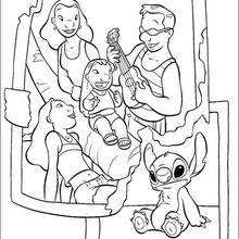 lilo sister stitch coloring pages hellokids