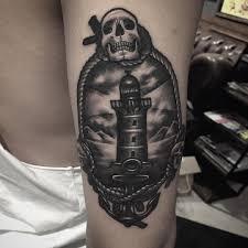 Lighthouse Tattoo Ideas Skull Lighthouse Tattoo On Arm Best Tattoo Ideas Gallery