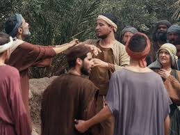 The Blind Bartimaeus Mark 10 46 52 Free Bible Images Jesus Heals Bartimaeus A Blind Man Begging