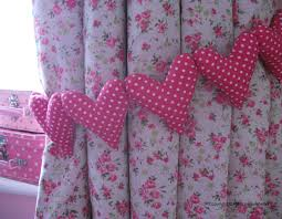Purple Curtains For Nursery by Shabby Chic Pink Polka Dot Curtain Heart Tie Backs Nursery