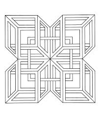 25 geometric coloring pages ideas abstract