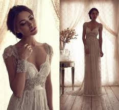 vintage brown or red and cream wedding dresses ball gown strapless