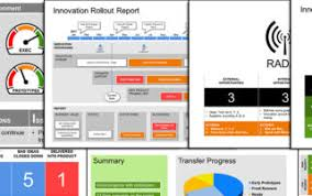 software development status report template infographics