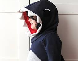 Jaws Halloween Costume Kids Hoodie Dinosaur Sweatshirt Crocodile Sweatshirt