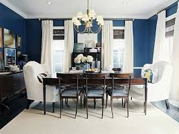 dining room decor ideas colorful dining chairs room waplag modern navy blue wall color
