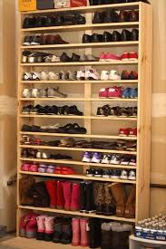 basket case for shoes and shelves in small closet ideas home