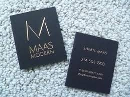 maas modern sleek ultra moderne black business cards with