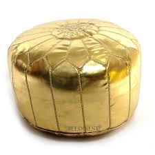 Gold Storage Ottoman by Amazon Com Stuffed Moroccan Gold Ski Leather Pouf Pouffe Ski