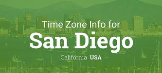 Pacific Time Zone Map Daylight Saving Time Dates For Usa U2013 California U2013 San Diego