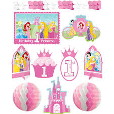 amazon com amscan disney 1st birthday princess room decorating kit