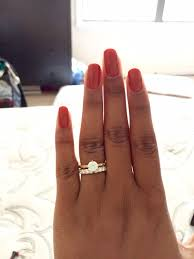wedding band that will go with my east west oval e ring gold ring with white gold prongs yay or nay weddingbee
