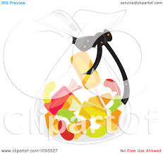 clipart of halloween clipart bag of halloween candy royalty free vector illustration