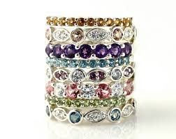 stacking birthstone rings stackable birthstone rings trinkets stackable