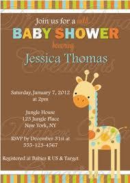 baby shower giraffe boy baby shower invitation