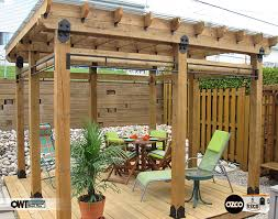 perfectly staged eight 6x6 post bases and post to beams accented