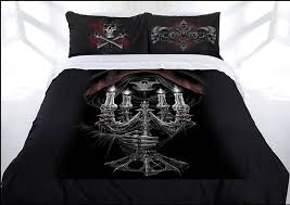 anne stokes candelabra doona quilt cover bed set double gothic