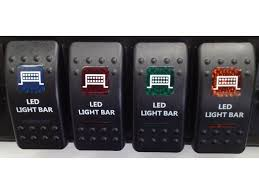 led light bar switch panel roof led lightbar rocker switch 4x4offroadclinic