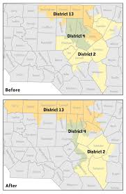 Fort Bragg Map The Odd Shapes Of The Gop Congressional Redistricting Plan North