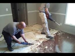 removing glued wood floor from concrete