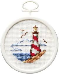 lighthouses cross stitch patterns kits 123stitch
