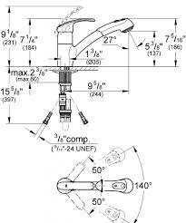 how to install a grohe kitchen faucet grohe kitchen faucet specs ppi