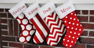 christmas stocking personalized dots wholesale lipstick red