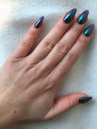 blue purple chrome nails january 2017 almond nails stiletto oil