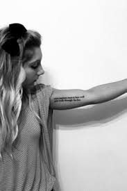 my new tattoo on upper inner arm it u0027s a dr seuss quote follow me