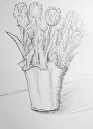 tulips drawing pencil skapat utanför kursateljén pinterest