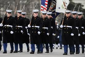 usmc dress blues with winter overcoat tactical pinterest