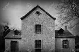 gothic revival architecture abandoned house exterior abstract