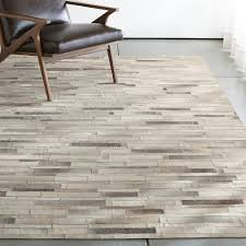 ewing striped cowhide rug crate and barrel projects ideas