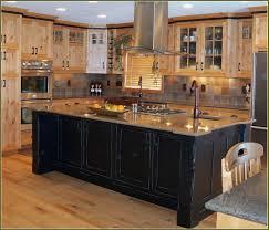 birch wood chestnut raised door black distressed kitchen cabinets