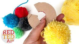 how to make a pom pom maker tutorial craft basics yarn pom pom