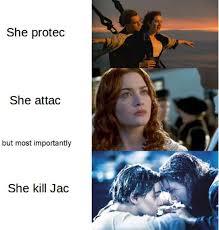 Titanic Funny Memes - joke4fun memes she protect she attac