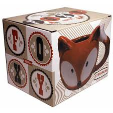 Fox Mug by Foxy Cute Animal Ceramic Fox Coffee Mug Novelty Coffee Mugs