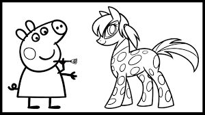 peppa pig paint miraculous ladybug pony coloring book coloring