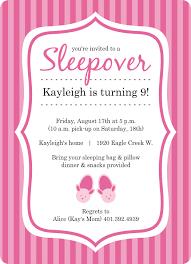 princess birthday slumber party invitations templates