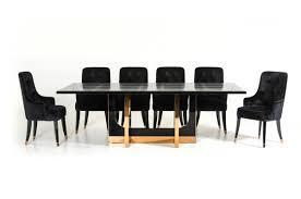 a u0026x padua modern large black crocodile u0026 rosegold dining table