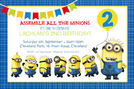 Invations Fun Minions From Despicable Me Boy Birthday Party Invitations
