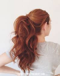 hairstyles for day old curls voluminously curl your long locks and pull it back into a classy