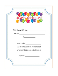 20 birthday gift certificate templates u2013 free sample example