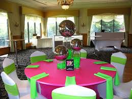 Sweet 16 Party Centerpieces For Tables by Creative Celebrations Event Pink Pink And 80s Theme