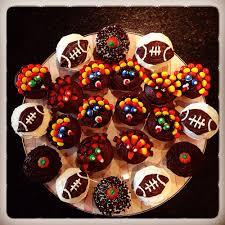 creative desserts for thanksgiving football cupcakes thanksgiving cupcakes yum fun seasonal