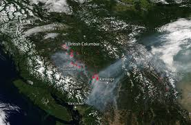 Wildfire Areas continue to beleaguer western canada