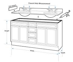 delighful standard height for bathroom vanity gallery of and depth
